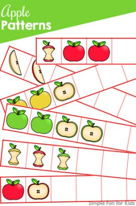 Apple Patterns Printable
