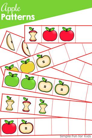 Apple Patterns Printable