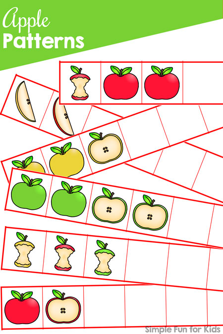 graphic regarding Apple Pattern Printable identified as Apple Types Printable - Uncomplicated Exciting for Young children