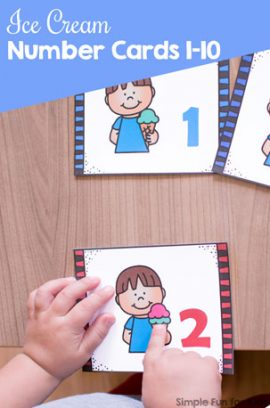 Ice Cream Number Cards 1-10 Printable