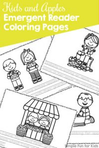 Kids And Apples Emergent Reader Coloring Pages Perfect For Fall