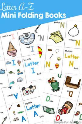 Letter A-Z Mini Folding Books Bundle