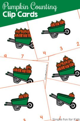 Pumpkin Counting Clip Cards