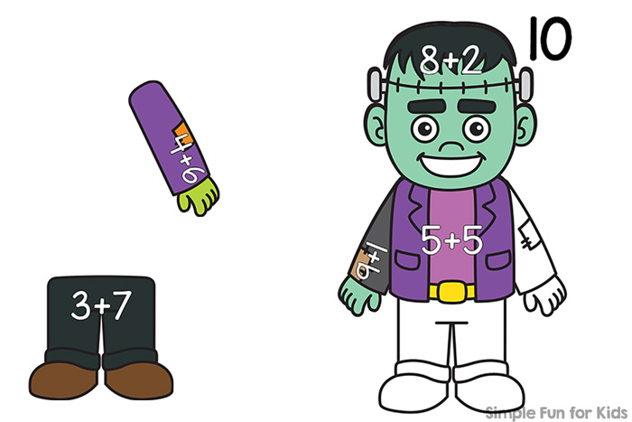 Build an Addition Frankenstein (8-10) - Simple Fun for Kids