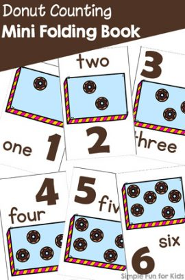 Donut Counting Mini Folding Book Printable