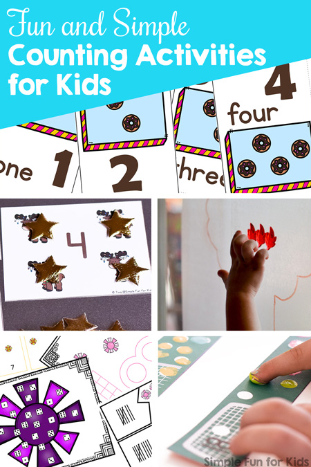 Learn counting, number recognition, and 1:1 correspondence with these fun and simple counting activities for kids! Printables and more for toddlers, preschoolers, and kindergarteners.