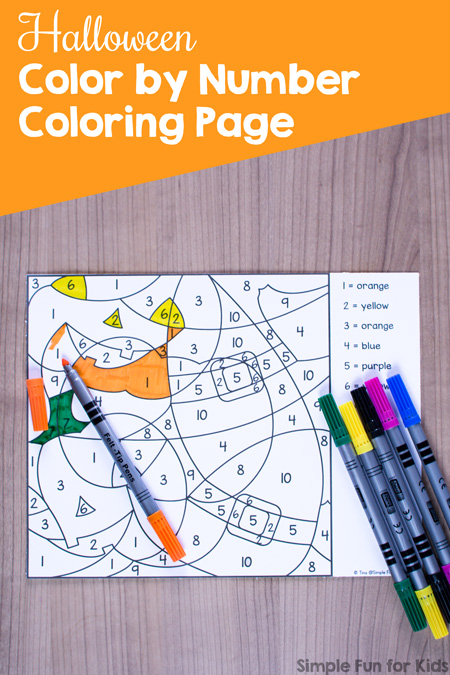 Halloween Color By Number Coloring Page - Simple Fun For Kids