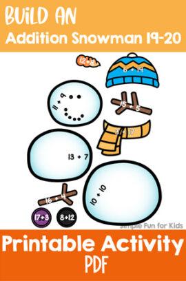 Build an Addition Snowman 19-20