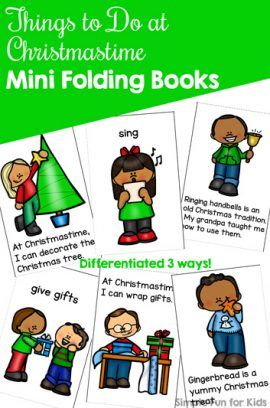 Things to Do at Christmastime Mini Folding Books Printable