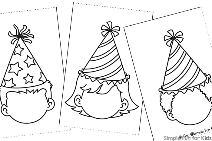 Color The Blank Faces And Give Them An Expression This Printable Party Kids Mini Folding