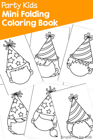 Party Kids Mini Folding Coloring Book