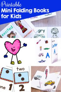 Learn about emotions, letters, counting, colors, and more with these cute printable mini folding books for kids. From toddlers to kindergarteners and elementary students, kids love little books to read and carry around.