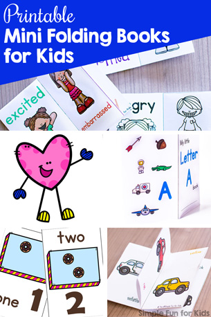 Printable Mini Folding Books for Kids