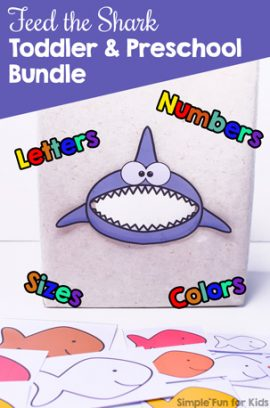 Feed the Shark Toddler and Preschool Bundle