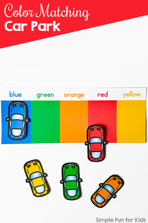 Color Matching Car Park Printable