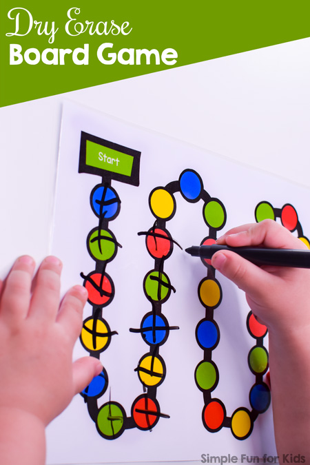 picture regarding Printable Board Games for Adults titled Dry Erase Board Video game - Easy Enjoyable for Little ones