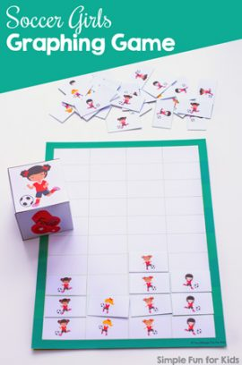 Soccer Girls Graphing Game Printable