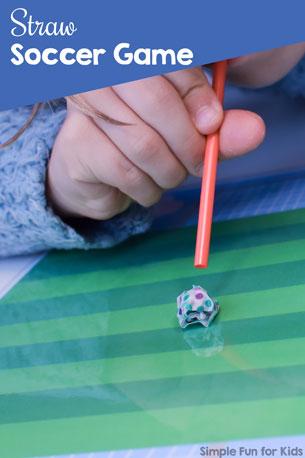 Straw Soccer Game Printable