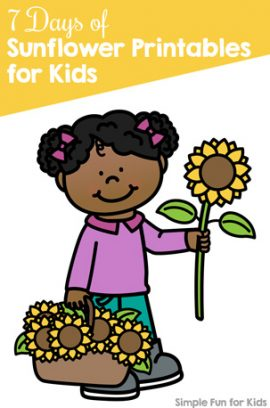 7 Days of Sunflower Printables for Kids