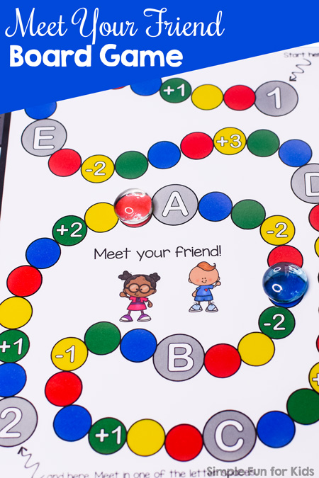image relating to Printable Game Board referred to as Satisfy Your Pal Board Recreation Printable - Basic Enjoyment for Children