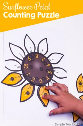 Sunflower Petal Counting Puzzle