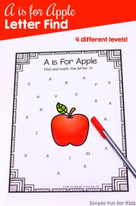 A is for Apple Letter Find