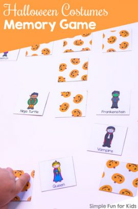 Halloween Costumes Memory Game