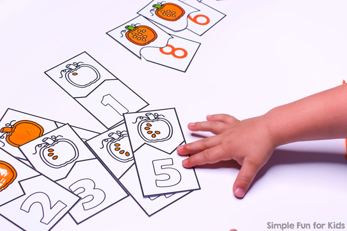 What a fun way to practice counting: These Pumpkin Seed Counting Puzzles cover numbers 0 through 10, perfect for preschool and kindergarten. The VIP version includes three different fonts and black and white versions.