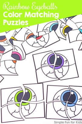 Rainbow Eyeballs Color Matching Puzzles