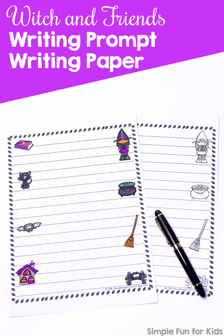 Just cute writing paper or a writing prompt right rolled into it - use it how ever you want! Witch and Friends Writing Prompt Writing Prompt for your best Halloween story or anything else you want to write down.
