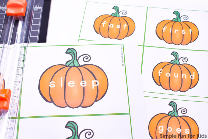 Learning and reviewing second grade sight words is more fun with these cute printable pumpkins! Perfect for preschoolers, kindergarteners, and first graders.