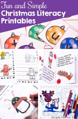 Fun and Simple Christmas Literacy Printables for Kids