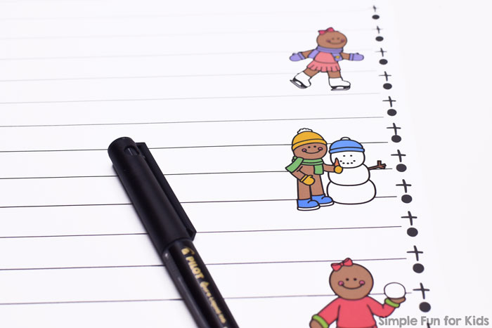 No prep literacy activity for kindergarten and elementary grades: Gingerbread Winter Fun Writing Prompt Writing Paper for writing general Christmas or gingerbread stories.
