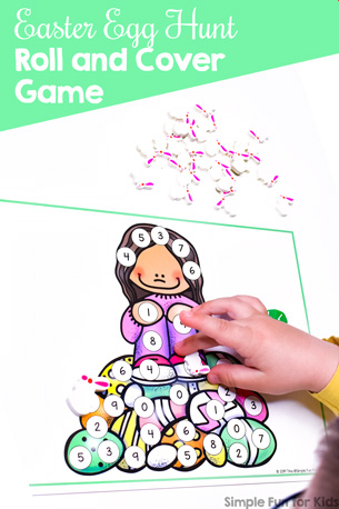 Easter Egg Hunt Roll and Cover Game