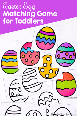 Easter Egg Matching Game for Toddlers
