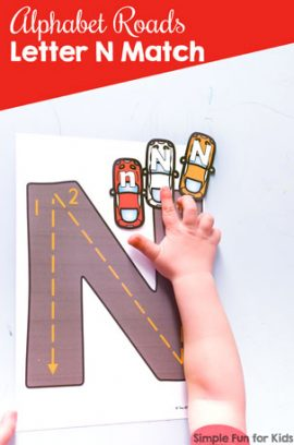Alphabet Roads Letter N Match Printable