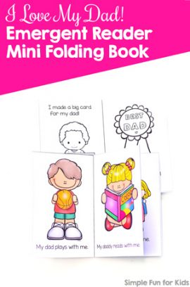I Love My Dad! Emergent Reader Mini Folding Book