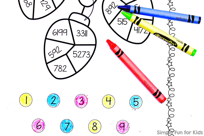 Practice place value with this fun, simple, no-prep Christmas Lights Color by Hundreds Place printable. Great for second and third graders learning, practicing, and reviewing place value strategies.