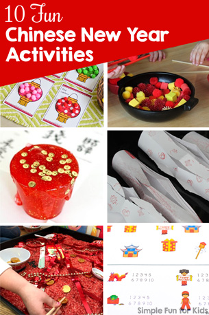 Have fun and learn with these 10 Fun Chinese New Year Activities for Kids: Sensory, printables, crafts, and more! Perfect for kids of all ages from toddlers to kindergarteners and elementary students.