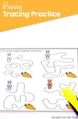 Bunny Tracing Practice