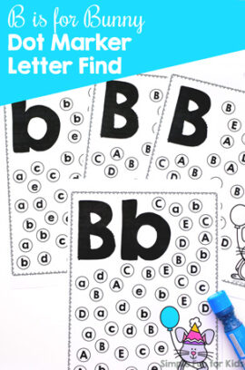 B is for Bunny Dot Marker Letter Find Printable