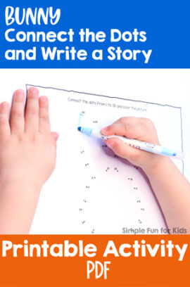 Bunny Connect the Dots and Write a Story Printable