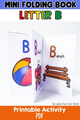 Letter B Mini Folding Book