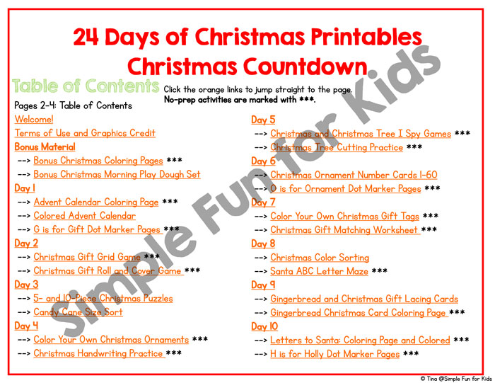follow this fun simple and frugal 24 days of christmas printables christmas countdown with
