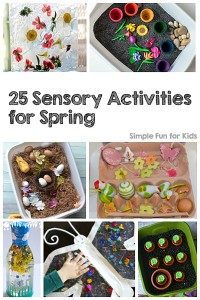 Check out these 25 Sensory Activities for Spring - fun for kids of all ages, from toddlers and preschoolers to kindergarteners and elementary students!
