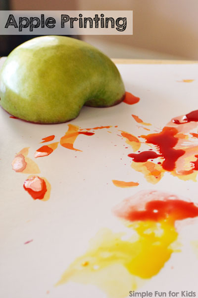 Try This Quick And Simple Fall Art Activity Apple Printing Is Fun For Toddlers