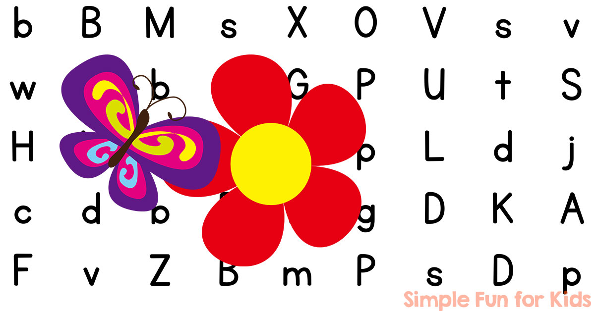 Is for butterfly letter maze printable simple fun for kids