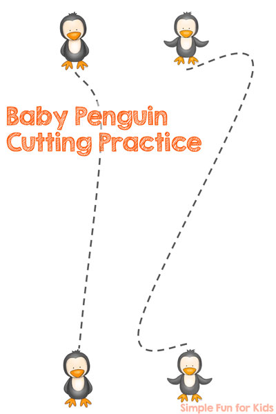 Baby Penguin Cutting Practice