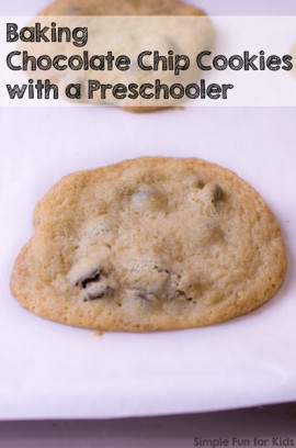 Baking Chocolate Chip Cookies with a Preschooler