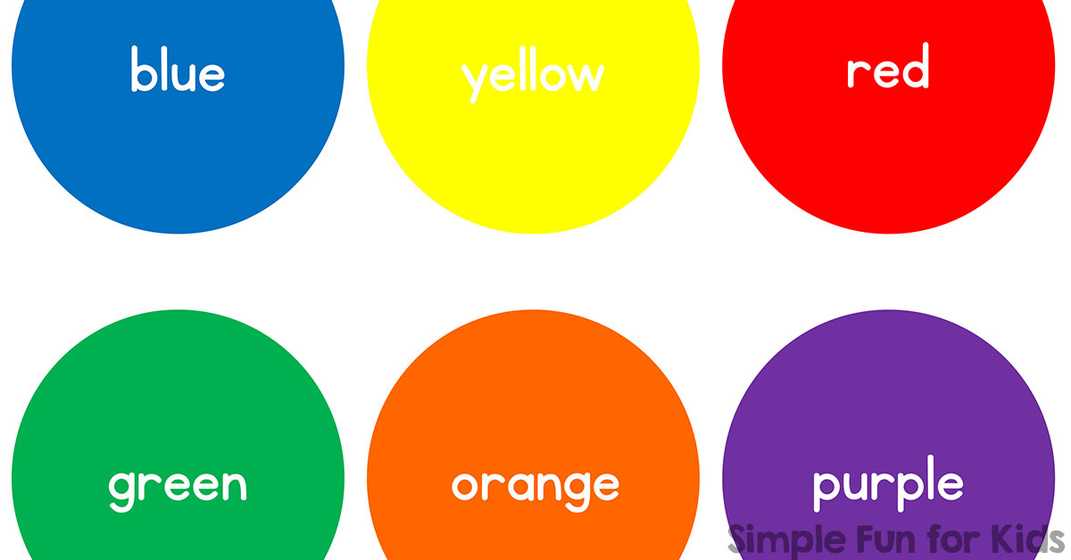 photo relating to Printable Colors called Simple Colour Circles - Uncomplicated Exciting for Young children